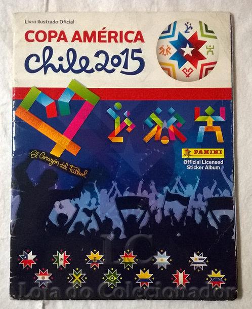 Álbum de Figurinhas Copa América do Chile 2015 - Com algumas figurinhas