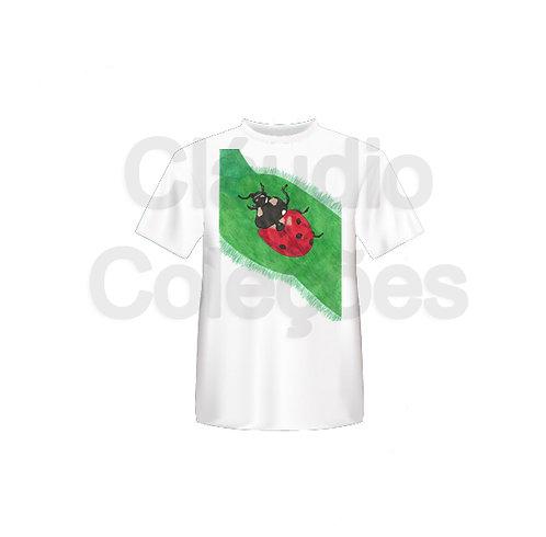 Camiseta - Joaninha - Desenho a Mão-livre - Tamanho GG