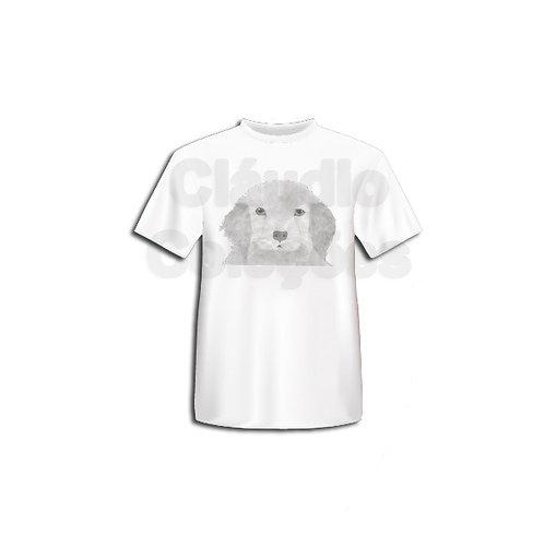 Camiseta - Cachorrinho - Desenho a Mão-livre (Grafite) - Tamanho P