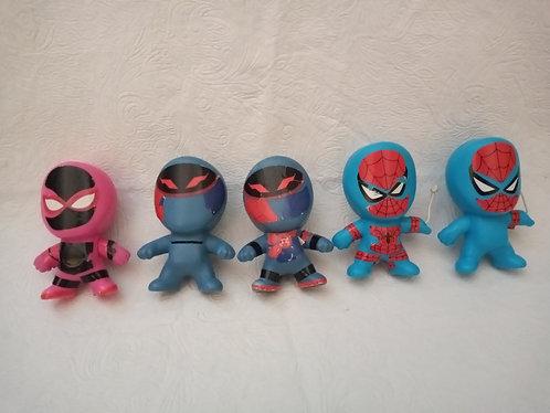Lote com 5 bonecos homem-aranha - McDonalds