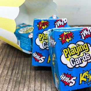 .29ea, Mini Superhero Playing Cards