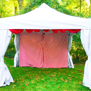 10x10 Tent with Carnival Theme