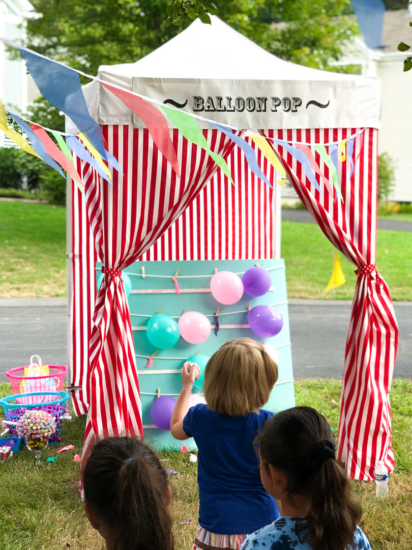 Balloon Pop Game at Carnival Party