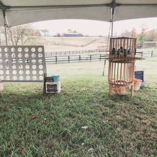 Connect 4 and Kerplunk in a dedicated tent