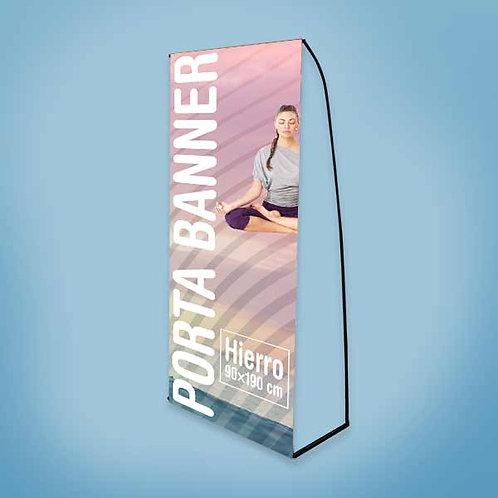 Porta Banner / Hierro 90×190 cm
