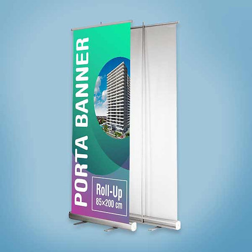 Porta Banner Roll-Up 85×200 cm