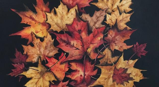 "SOLD- Watercolour on Birch 20""x20"""