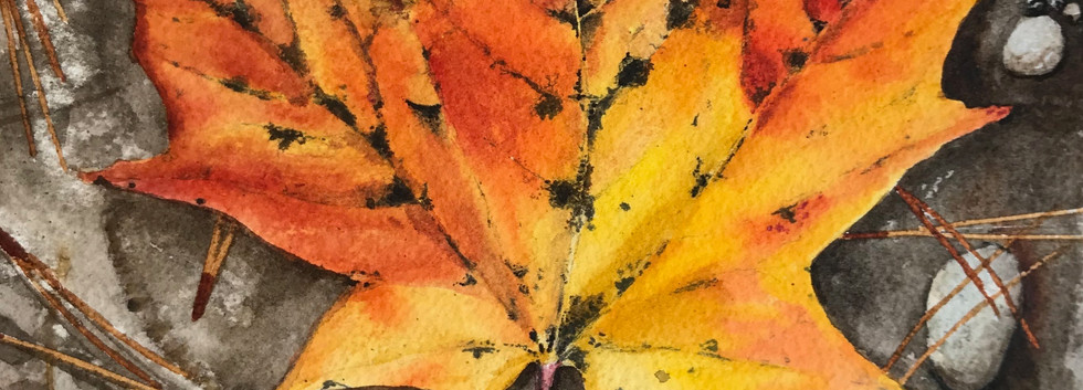 "SOLD- 8""x10"" Watercolour on birch"