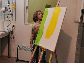 Maddox in seinem Atelier