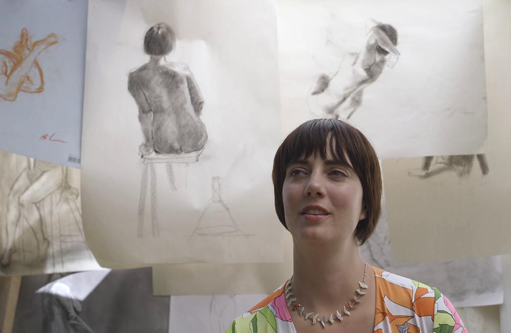 Life model Sarah Alexander in Tegan Clancy's documentary 'Bodies'