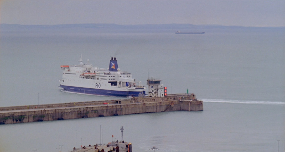 A ferry leaving the Port of Dover