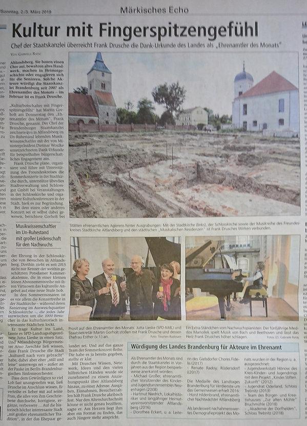 Märkische Oderzeitung vom 2._3. März 201
