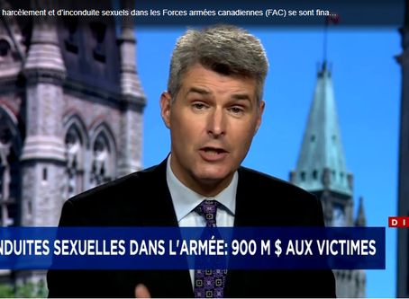 Ottawa offre 900 M$ aux victimes d'inconduites sexuelles dans l'armée canadienne