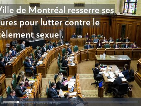 Montréal resserre ses mesures contre les inconduites sexuelles