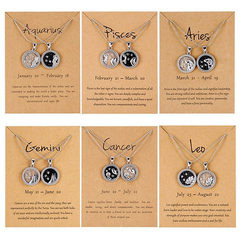 12 Constellations Zodiac Wish Gift