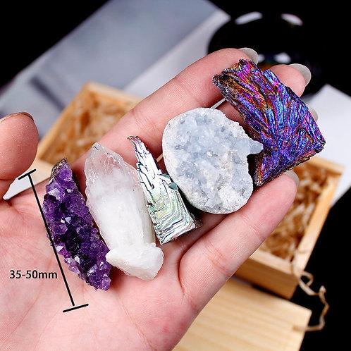 5pcs  Natural Crystal Cluster Gifts Set