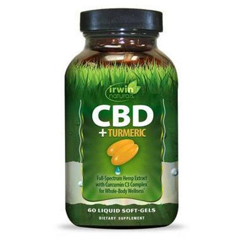 CBD Capsules - CBD + Turmeric Softgels - 15mg