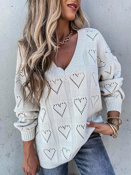 Simple Casual Knitted Sweatshirt