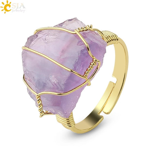 One of a kind Crystal Quartz Rings