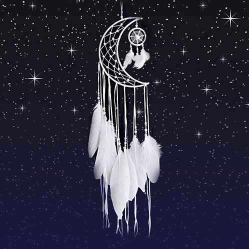 Moon-Feather Dream Catcher