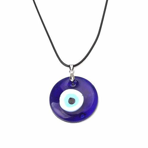 Blue Glass Evil Eye Pendant