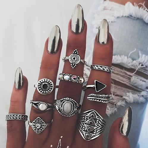 Opal Vintage Ring Set