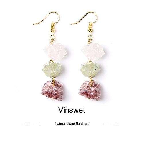 3Stoned Crystal Earrings