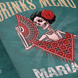Mariachi Restaurant Drink Menu  -Graphic Design & Printing-