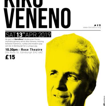 Kiko Veneno Poster Edinburgh Gig 2019 -Graphic Design & Printing-