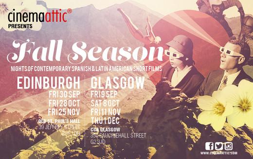 "Poster, flyers and digital media designed for ""Sort Films Fall Season"" in Edinburgh and Glasgow 2016"