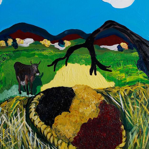 """""""Currants!"""" 2015. Acrylic on canvas, 11 x 14"""""""