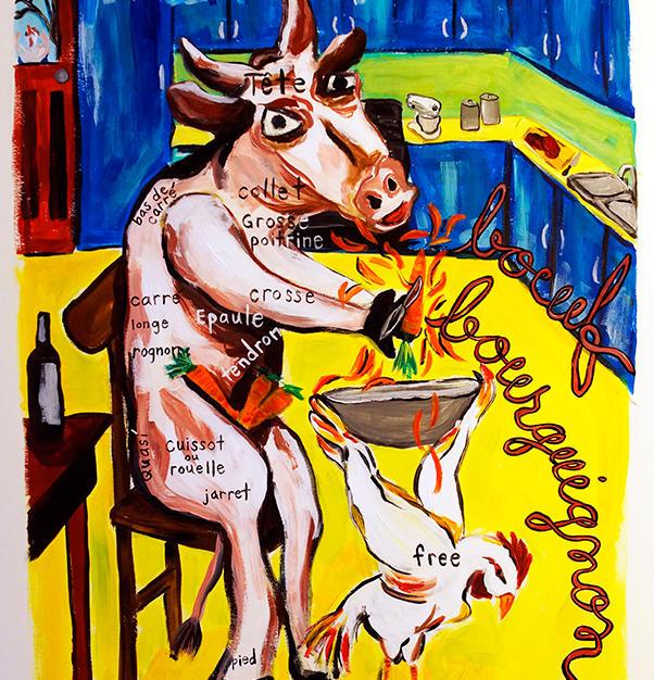 """Interpretations of Freedom"" 2016. Acrylic on paper, 16 x 24"" Sold"