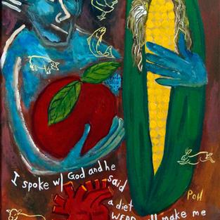"""""""What God Said"""" 2018. Acrylic on canvas, 11 x 14"""""""