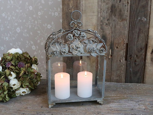 Chic Antique - Lanterne m. Rosendekor
