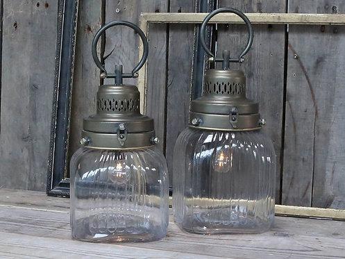 Chic Antique - Fransk stald-lanterne m. pære