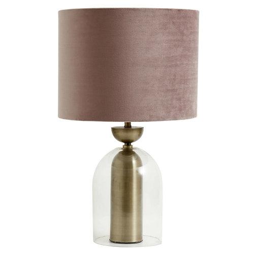 Nordal - Glaslampe m. Guldfinish - Rose