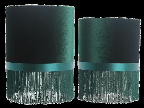 Au Maison - Velour Lampeskærmsæt (2 stk.) - Moss