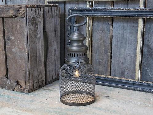 Chic Antique - Fransk stald-lanterne m. pære og timer