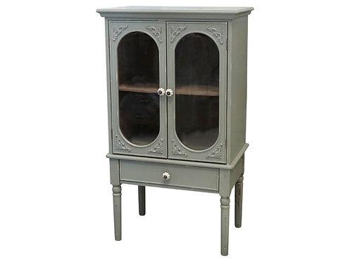 Chic Antique - Fransk Skab m. Oval Glaslåger