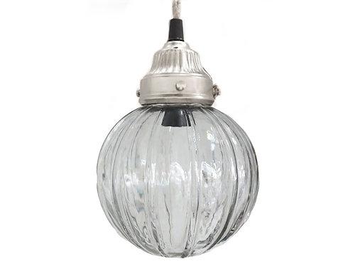 Chic Antique - Lampe Kugle m. Riller - Håndlavet