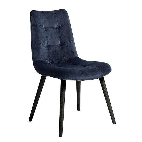 Nordal - Velour Spisebordsstol - Mørkeblå