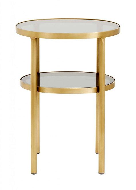 Nordal - Ovalt Sidebord - Guld/Glas