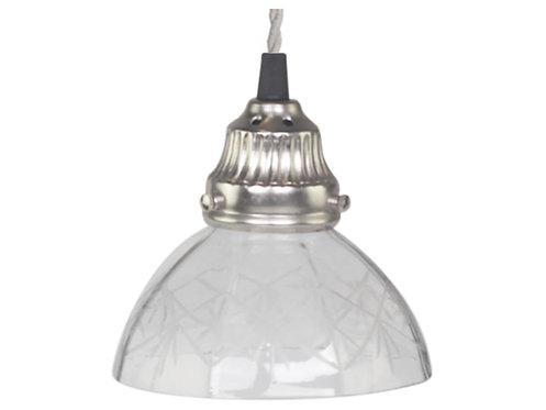 Chic Antique - Lampe m. Slipning i Glas - Håndlavet