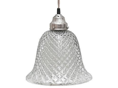 Chic Antique - Lampe Klokke i Glas - Håndlavet