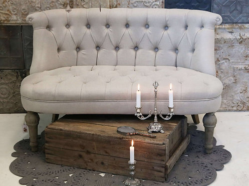 Chic Antique - Fransk Sofa i Hør