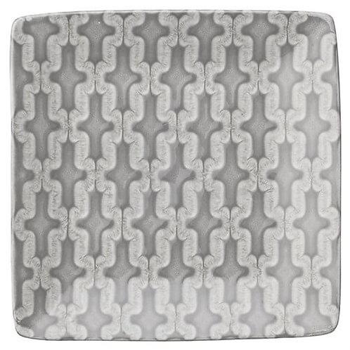 Lene Bjerre - Abella Fad - Kvadrat - Lys Cement