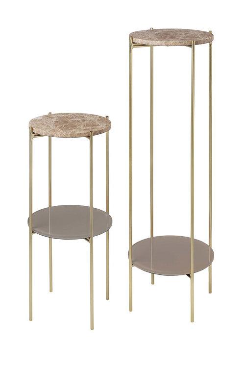 Cozy Living - FRYD Marmor Pedestal - Caramel (2 stk)