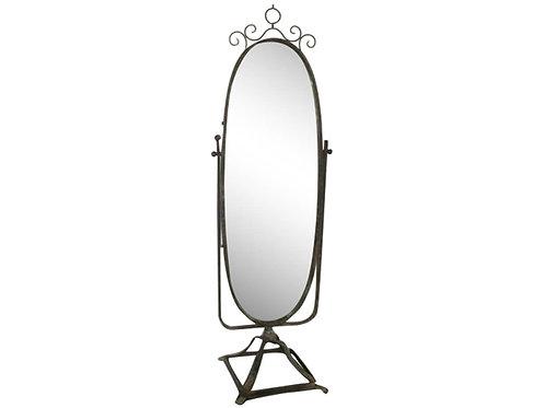 Chic Antique - Spejl Ovalt På Fod