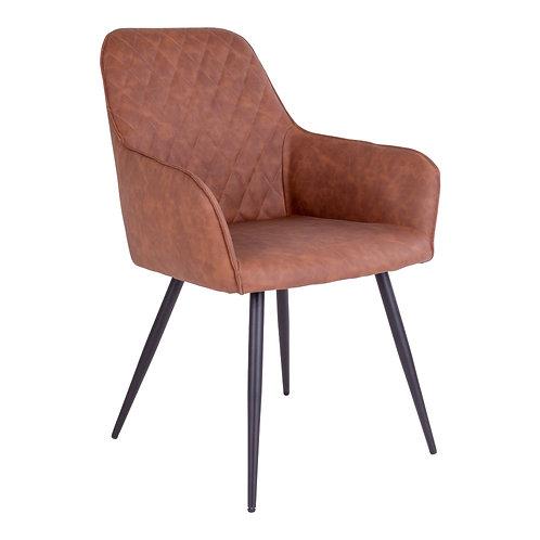 House Nordic - 2 stk. Harbo Spisebordsstol - Vintage brun kunstlæder