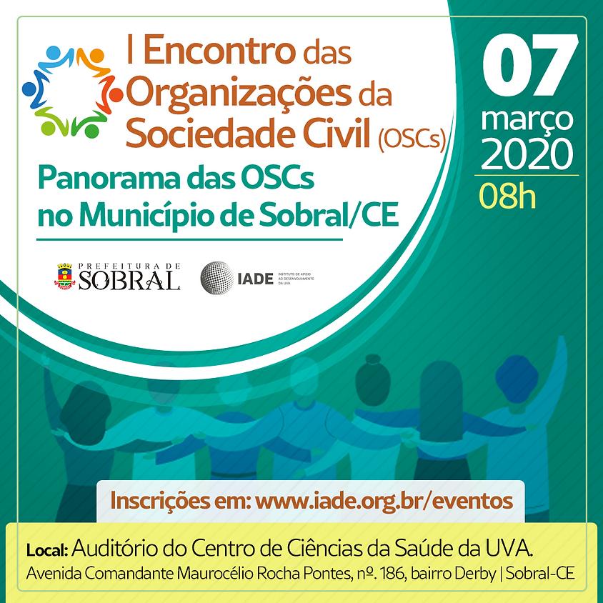 I Encontro das Organizações da Sociedade Civil (OSCs)